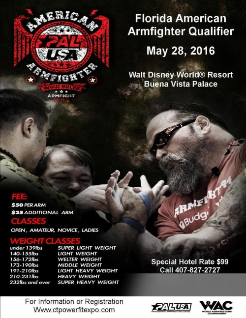 Florida American Armfighter Qualifier May 28